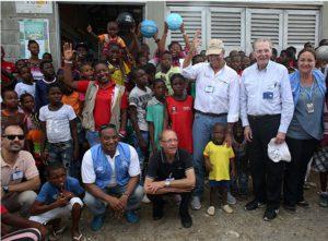 La mission humanitaire de l'envoyé spécial du secrétaire général des Nations Unies pour les jeunes réfugiés et le sport en Colombie