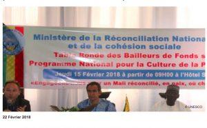 L'UNESCO soutient le gouvernement du Mali pour assoir une culture de la paix durable