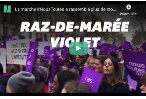 France: La marche #NousToutes à Paris a rassemblé plus de monde que la manif des gilets jaunes