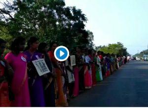 5 millions d'Indiennes forment une chaîne de 620 kilomètres pour les droits des femmes