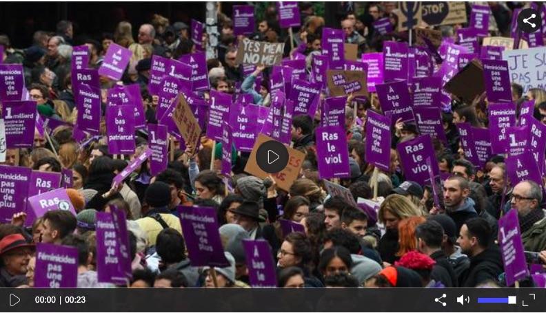 #NousToutes : des dizaines de milliers de manifestants à Paris, de nombreuses personnalités