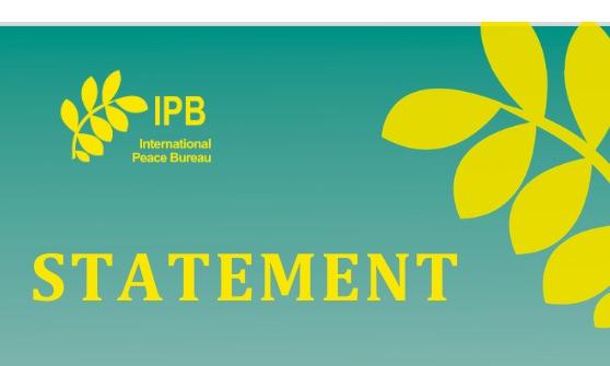 Déclaration du Bureau International de la Paix à l'Occasion du Sommet du G20 : Investissons dans la Sante Plutot que dans la Militarisation !