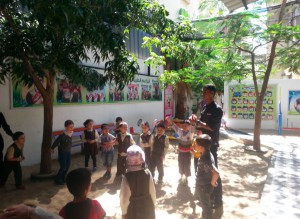 The Peace Centre organized a counseling session for Gaza's children