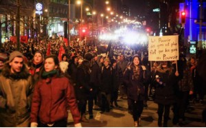 Montreal, Canada: Thousands of students protest cuts in night demonstration