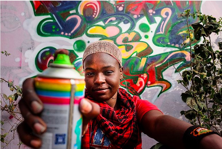 Senegal's First Female Graffiti Artist Is Leaving a Fearless Mark