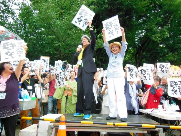 Japanese expressing a clear and strong disapproval – No to their future with wars