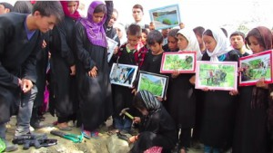 Afghan Girl, Sakina, Buries Toy Gun and Says…