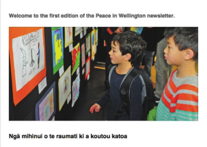 Peace in Wellington, New Zealand