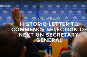 Historic Letter to Commence Selection of Next UN Secretary-General