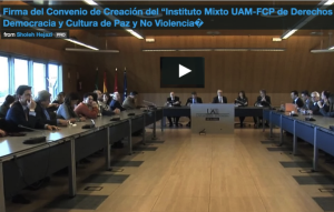 Spain: DemosPaz, a new Institute of UAM and the Foundation Culture of Peace