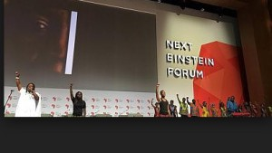 "The Senegalese winners of the ""Next Einstein Forum"" present the results of their scientific work"