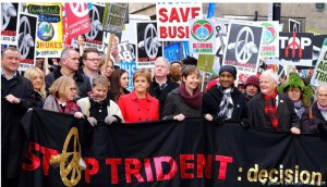United Kingdom: Thousands call for Britain's nuclear deterrent Trident to be scrapped