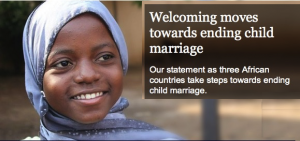 The Elders welcome new moves in Africa to end child marriage