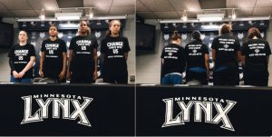 WNBA's Minnesota Lynx acknowledge shooting victims with t-shirts