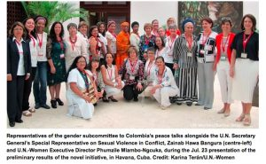 Colombia Includes Gender Focus for a Stable, Lasting Peace