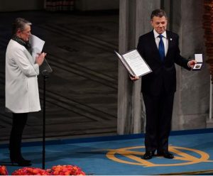 "Nobel Lecture by Juan Manuel Santos:""Peace in Colombia: From the Impossible to the Possible"""
