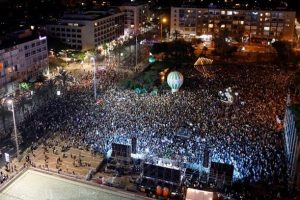 Tel Aviv rally for two-state model