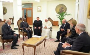 Pope Francis meets 'The Elders' to discuss global concerns