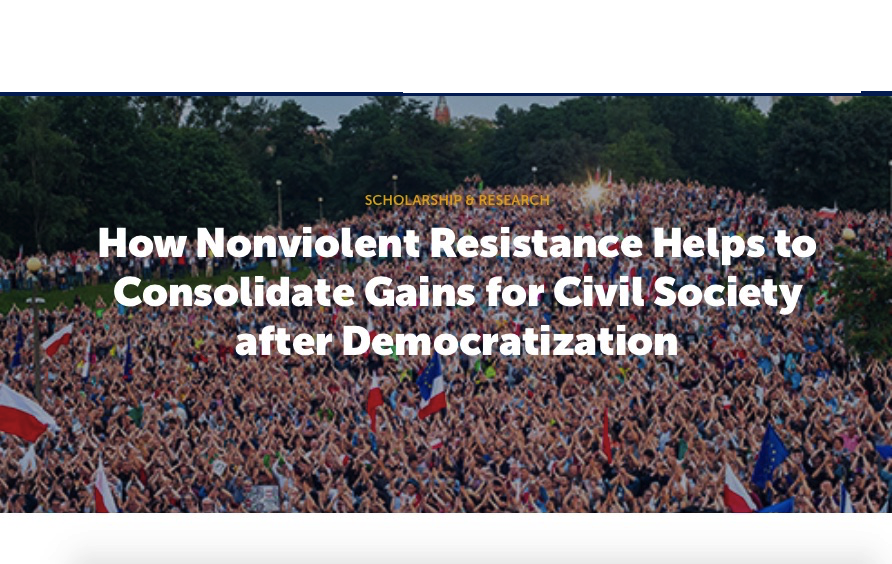 How Nonviolent Resistance Helps to Consolidate Gains for ...