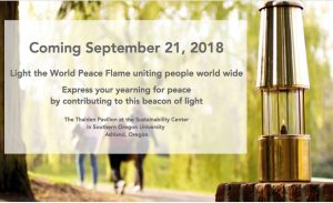 World Peace Flame to be lit in Ashland, Oregon (USA)