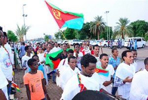 Eritreans and Ethiopians in Khartoum rally in support of peace deal
