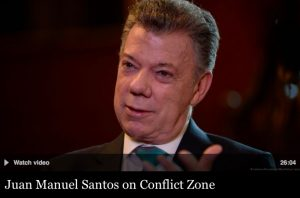 Colombia's peace deal: Where is the peace? Interview with outgoing President Santos