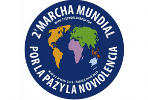 Launch of the 2nd World March for Peace and Nonviolence at the 2nd World Forum of Peace Cities in Madrid