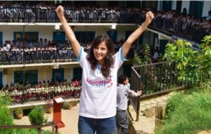 Bonita, a young change-maker inspires girls and women in Nepal through education