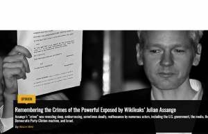 Remembering the Crimes of the Powerful Exposed by Wikileaks' Julian Assange