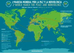 The Americas are preparing for the second World March for Peace and Nonviolence