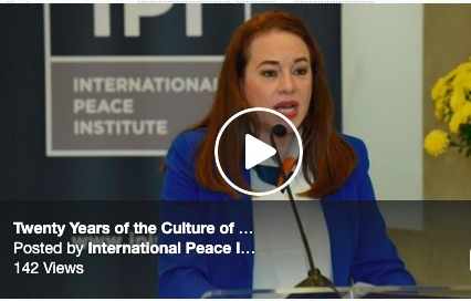 Twenty Years of the Culture of Peace: On the Road to Achieving the Sustainable Development Goals