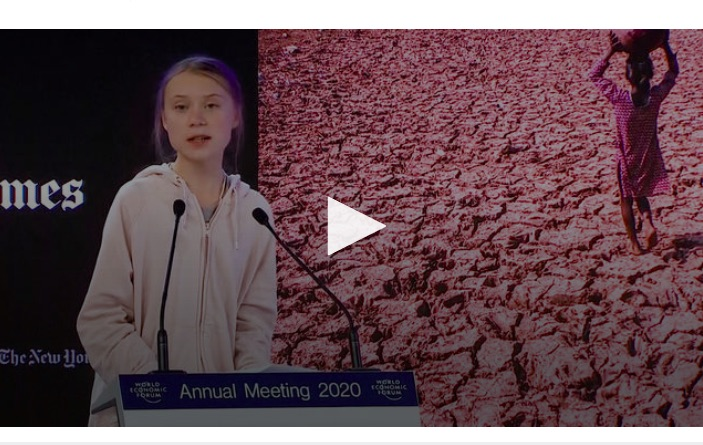 Greta Thunberg Addresses Global Elite at Davos: Our House Is Still on Fire