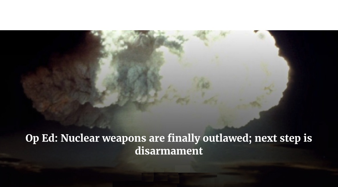 Red Cross: Nuclear Weapons Are Finally Outlawed, Next Step Is Disarmament