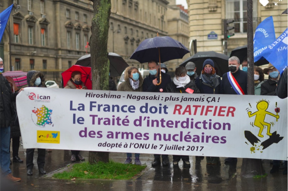 France: Gatherings in Front of the National Assembly and the Embassies of the Nuclearized Countries