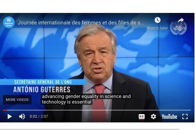 'Women and girls belong in science' declares UN chief