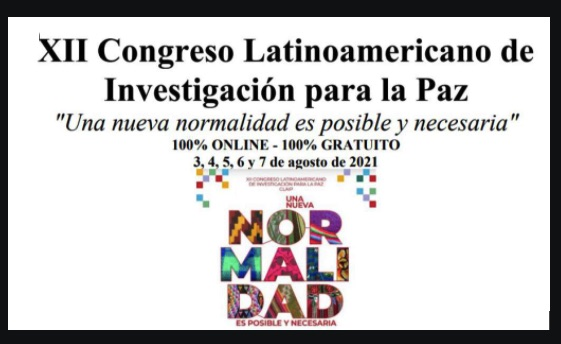 Latin American Congress of Research for Peace will be held virtually in August