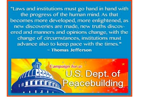 USA: Department of Peacebuilding Act of 2021 deserves support