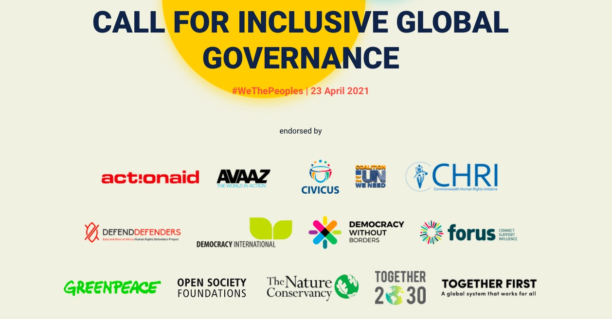 We the Peoples : Call for Inclusive Global Governance