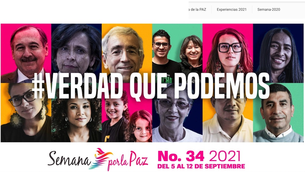 """""""Week for Peace 2021"""" Initiative for the consolidation of peace in Colombia"""