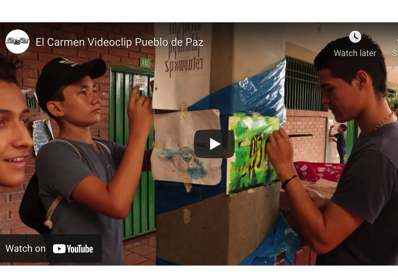 Colombia: '5th with 5th Crew', rhymes and colors for peace in Norte de Santander