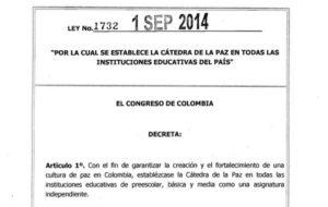 Colombia: La cátedra de la paz