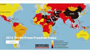 Clasificación Mundial de la Libertad de Prensa 2016: la paranoia de los dirigentes frente a los periodistas