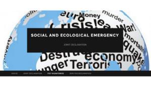 Declaracion Conjunta sobre el Medioambiente, la Desigualdad Social y la Eliminación de la Amenaza Nuclear, con Propuesta para la Refundación de la ONU