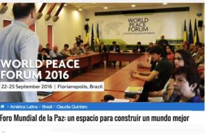 Brasil: Foro Mundial de la Paz: un espacio para construir un mundo mejor