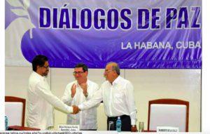 Firman en La Habana histórico acuerdo de paz para Colombia