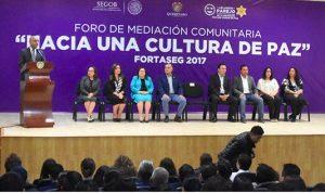"""México: Inaugura Marcos Aguilar foro """"Hacia una Cultura de Paz"""""""