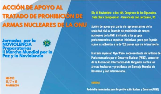 España: Acción de apoyo al Tratado de Prohibición de Armas Nucleares