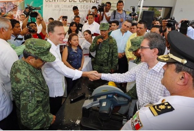 Chiapas, México: Canje de armas abona a la paz y la seguridad, afirma Velasco