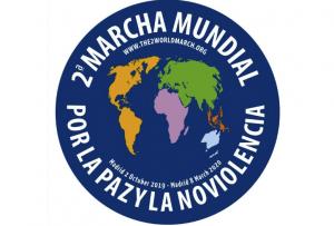 Lanzamiento de la 2ª Marcha Mundial por la Paz y la Noviolencia en el II Foro Mundial Ciudades de Paz en Madrid