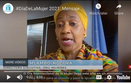Declaración de la Directora Ejecutiva de ONU Mujeres Phumzile Mlambo-Ngcuka, sobre el Día Internacional de la Mujer 2021